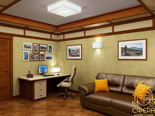 Дизайн зала в маленьком частном доме