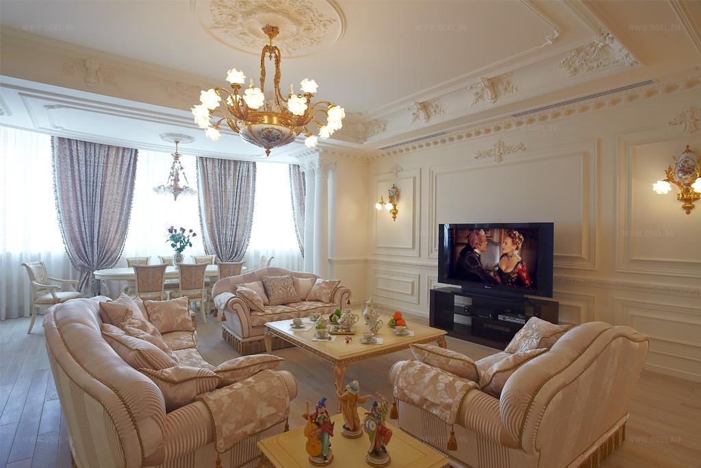 Гостиная барокко интерьер
